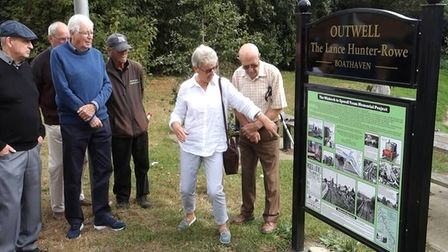 Phase three of the Wisbech to Upwell tram memorial was unveiled this month (September).