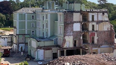 Torquay's Palace Hotel is being demiolished to make way for a new five-star hotel and spa