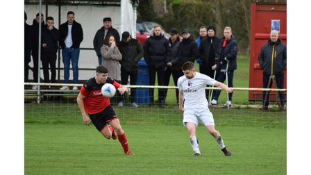 Action from the derby between Nailsea & Tickenham and Nailsea United
