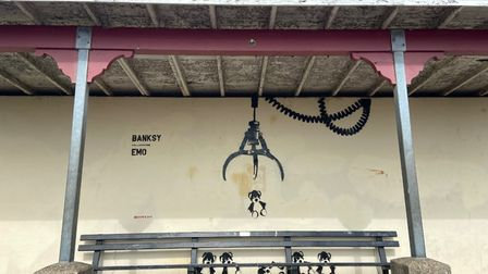 Emo 'collaborates' with Banksy