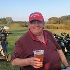 Donald Stuart enjoys a pint at the 19th hole at Mundesley Golf Club. A trophy has now been named