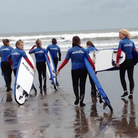 Teens in Grief take part in a surfing trip