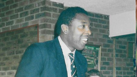 Pat Kamara after helping Finchley win the Middlesex Cup
