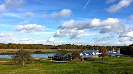 Buckler's Hardis a charming hamlet on the banks of the Beaulieu River in the New Forest in Hampshire