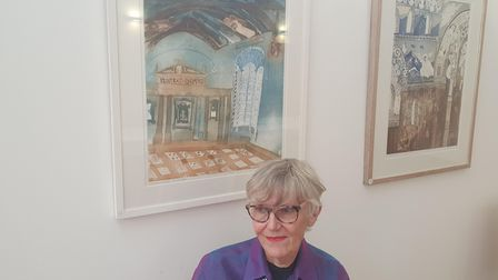 Artist Alison Nevilleand her architectural etchings.