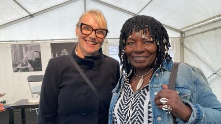 Authors Elizabeth Fremantle and Yvonne Bailey-Smith at the Queen's Park Book Festival