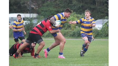 Clevedon RFC's Danny Harris during their match with Gordano RFC.
