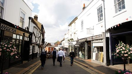 George Street, St Albans is one of the prettiest roads in Hertfordshire.