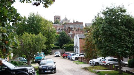 St Albans' Ver Road has a pretty view of the Cathedral.