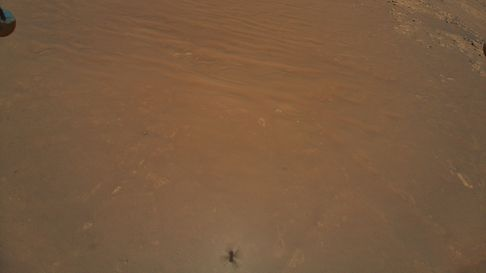 A photo of Mars taken from the NASA Mars helicopter - Ingenuity