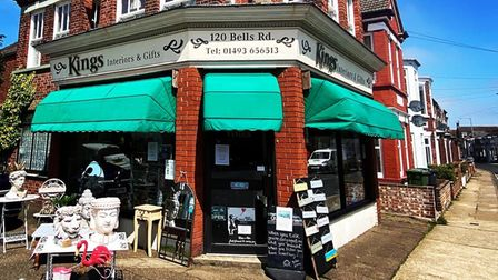 Kings Interiors and Gifts on Bells Road in Gorleston.