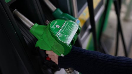 An E10 petrol pump at a Petrol Station in Kettering. A cleaner form of petrol is being introduced at