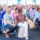 A packed tent at the Queen's Park Book Festival 2021