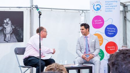 Dr Waheed Arian in conversation with Tom Goodman at Queen's Park Book Fest