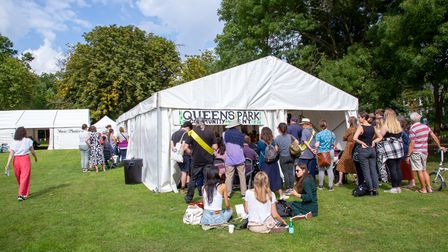The highly popular Community Tent at Queen's Park Book Festival 2021