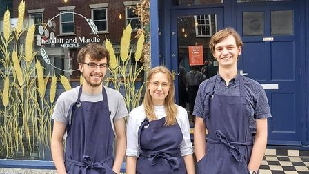 Emily Bridges, Elliot Dransfield and Johnny Durant own Norwichs first Micro pub.