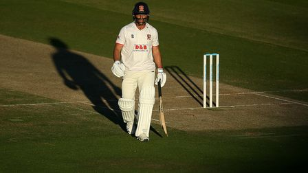EssexÕs Ryan ten Doeschate after being dismissed during day three of the Bob Willis Trophy Final at