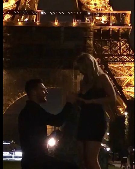 Boxing champ Liam Goddard proposes to his girlfriend Kimberley Page