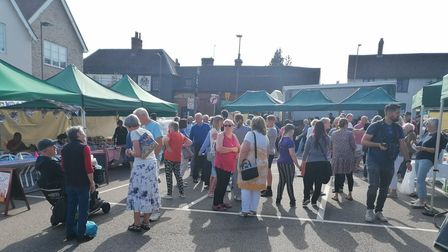 Royston street singers performed at the market on Saturday