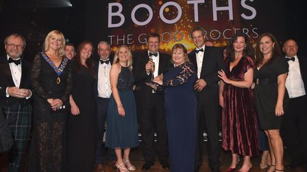 Booths won the Business of the Year award