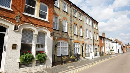 St Albans' Spicer Street is one of the prettiest in Hertfordshire.