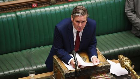 Keir Starmer speaking during Prime Minister's Questions in the House of Commons (UK Parliament/Jessi