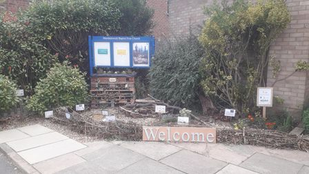 The new eco-garden set up by Marshalswick Baptist Free Church and Wilder St Albans.