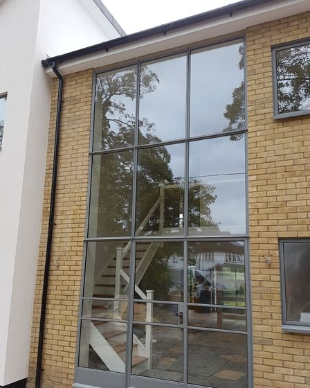 Metwin supply Crittall windows with big panes to bring maximum light into the home in Harlow, Essex.