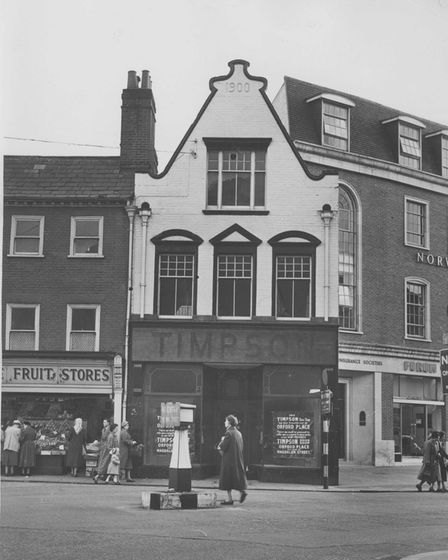 Norwich Streets -- S Timpsons former shoe shop which ad been reallocated to Orford Place at the