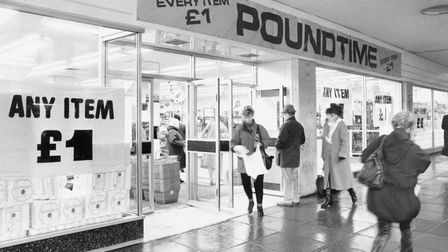 Norwich Buildings P Poundtime in St. Stephen's, now known as Poundland (2002) Dated 5 January 1994 P