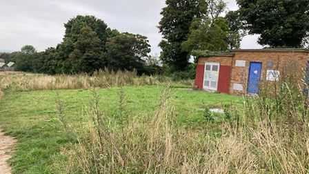 The pumping station site at Therfield Heath