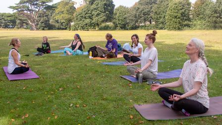 Free yoga class with Do Yoga at the Love the Outdoors event at Ellenborough Park.