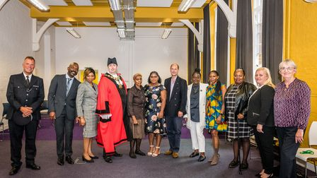 Prince Edward was joined by local dignitaries on his visit to Islington