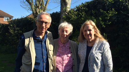 Betty Game Opportunities Trust trustees Roger Hardman, Margaret Ashby and councillor Sharon Taylor.