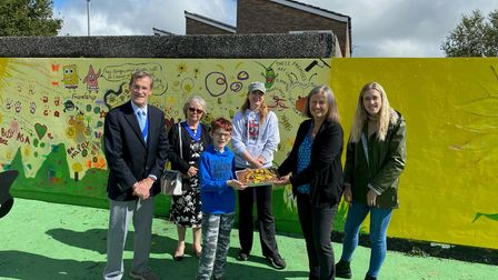 The mural opened at Dartmouth Close play area.
