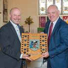 Cllr Mark Canniford presented the award to Neville Coles.