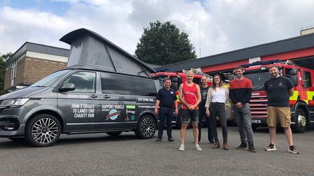 Huntingdon firefighter Lenny George set for charity run across Britain.