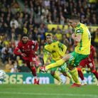 Christos Tzolis saw his first half penalty saved in Norwich City's League Cup tie against Liverpool
