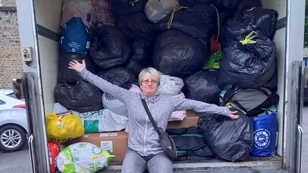 Weston mum helps donate 5,000 items to Afghan refugees.