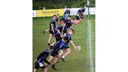 Nailsea & Backwell Colts RFC during their game with Winscombe RFC Colts.