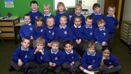 Rushmere Hall Primary School's first class in 2002
