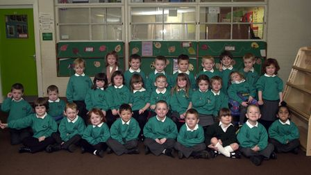 Youngsters pose for the picture at Sidegate Lane Primary School in Ipswich