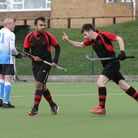 Havering celebrate their first goal during Havering HC vs Bourne Deeping HC, East Region League Fiel