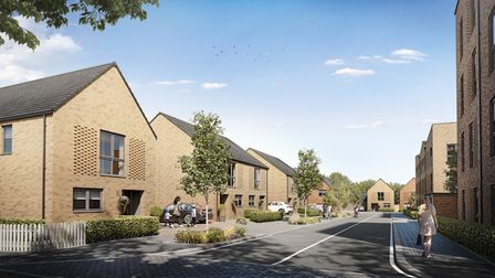 CGI of how the Carriage Quarter development in London Colney is expected to look on completion.