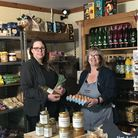 Beth Ashfield and Andrea Broadhurst at the Coldharbour Farm Shop.