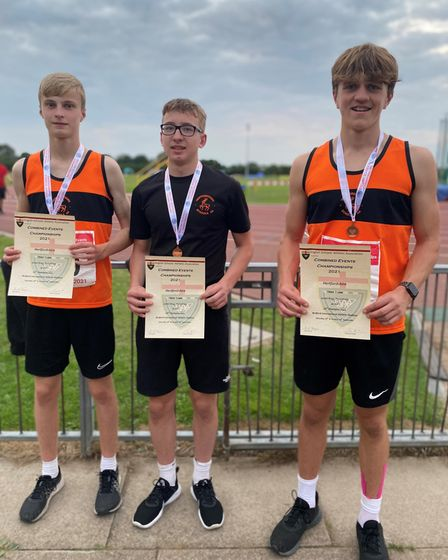 Jamie Timms, Noah Franklin and Bobby Pitman represented Hertfordshire at theESAA Combined Events Championships