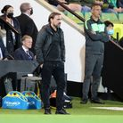 Norwich Head Coach Daniel Farke during the Carabao Cup match at Carrow Road, NorwichPicture by Paul