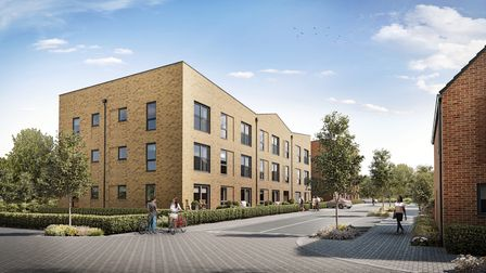 CGI of the Carriage Quarter development in London Colney.