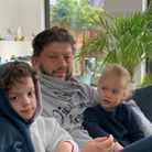 Neil Danziger and children, Henry and Millie