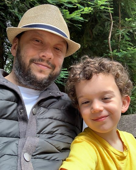 Neil Danziger with son Henry (2)